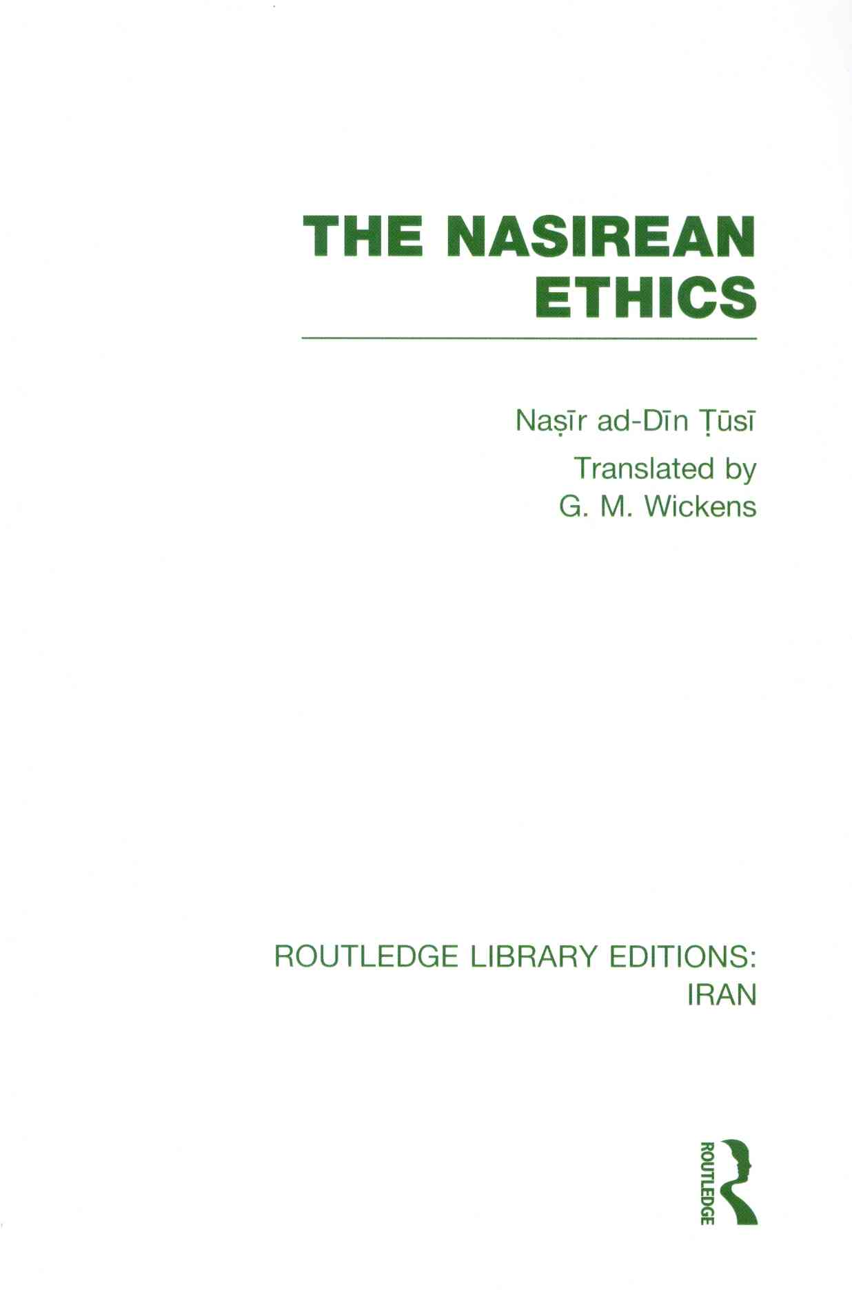 The Nasirean Ethics (Rle Iran C)